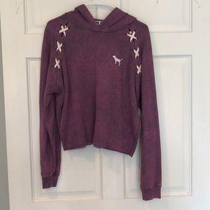 Worn once Victoria's Secret PINK hoodie- size L
